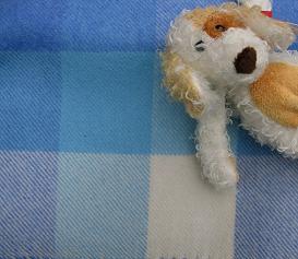 Baby Blue Lambswool Baby Blankets - Honey Beeswax