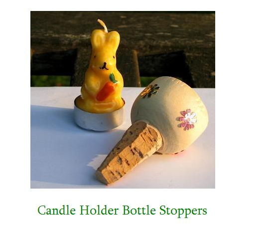 candle holder bottle stoppers