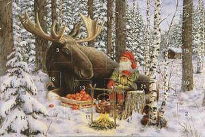 advent calendar card - moose - from Honey Beeswax