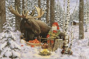 advent calendar card - moose - from Honey Beeswax