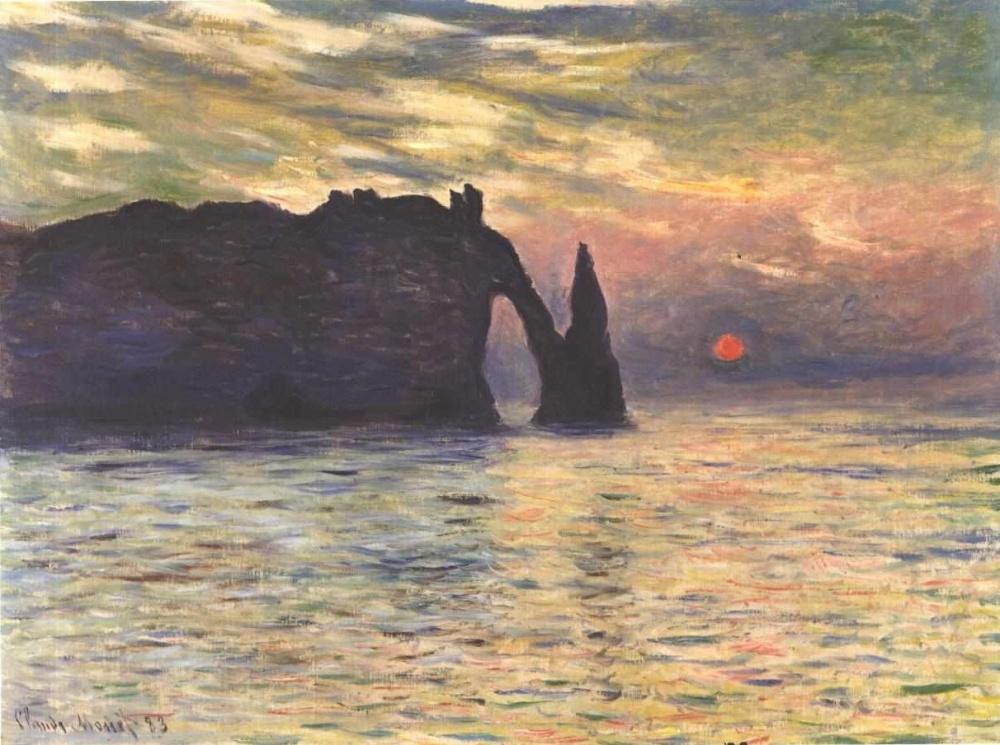 Monet_-_Sonnenaufgang_bei_Etretat