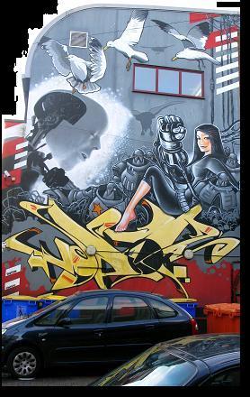 Seagulls - Grafitti Art in Brighton
