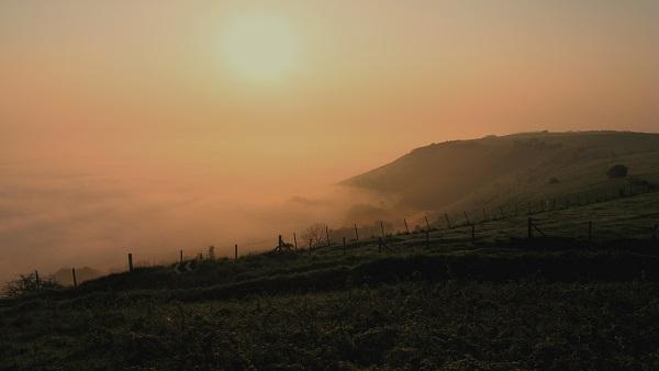 Sunrise through mist - m.joy