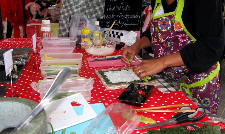 Sushi Stall at Brighton Open Market - m.joy