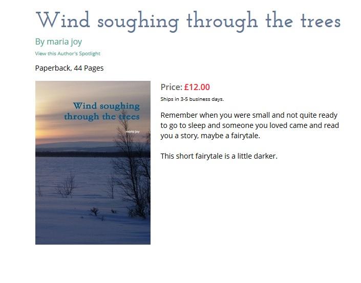 Wind soughing through the trees - maria joy