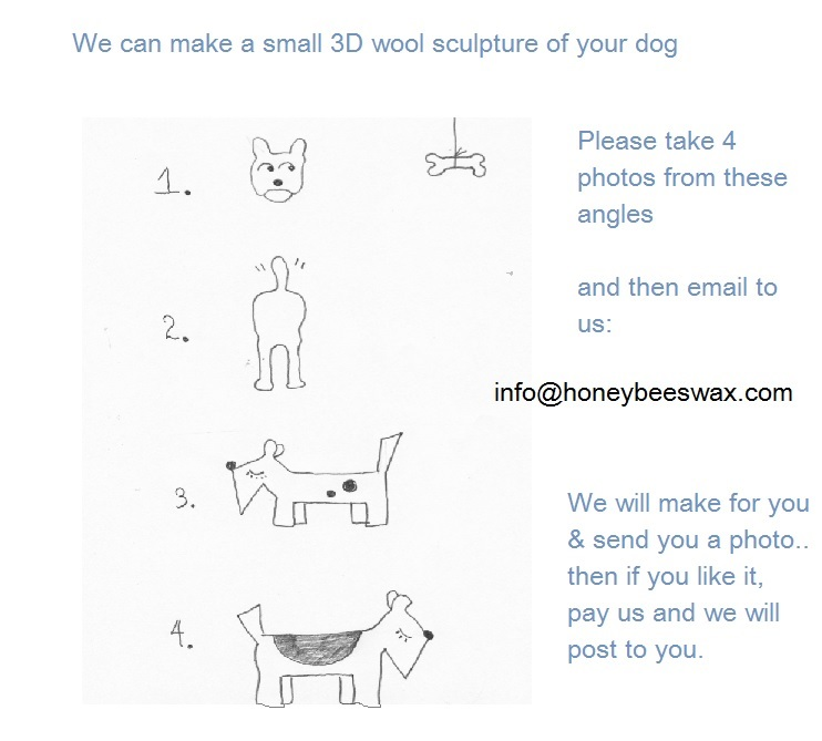 We can make your dog from your photos - please contact us info@honeybeeswax.com