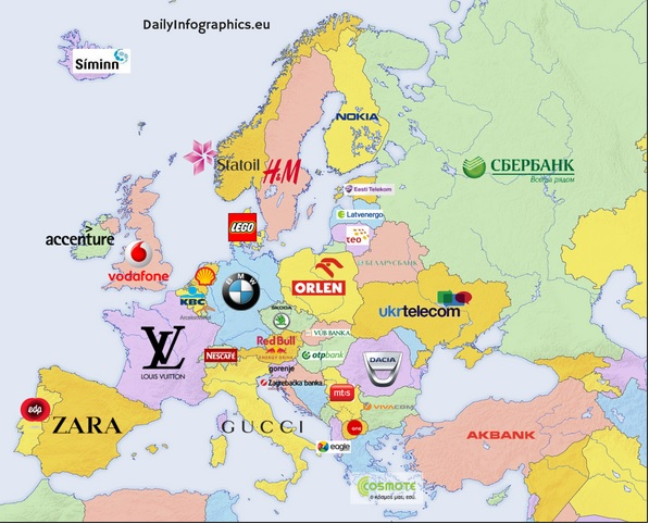 Most Valuable Brands in Europe