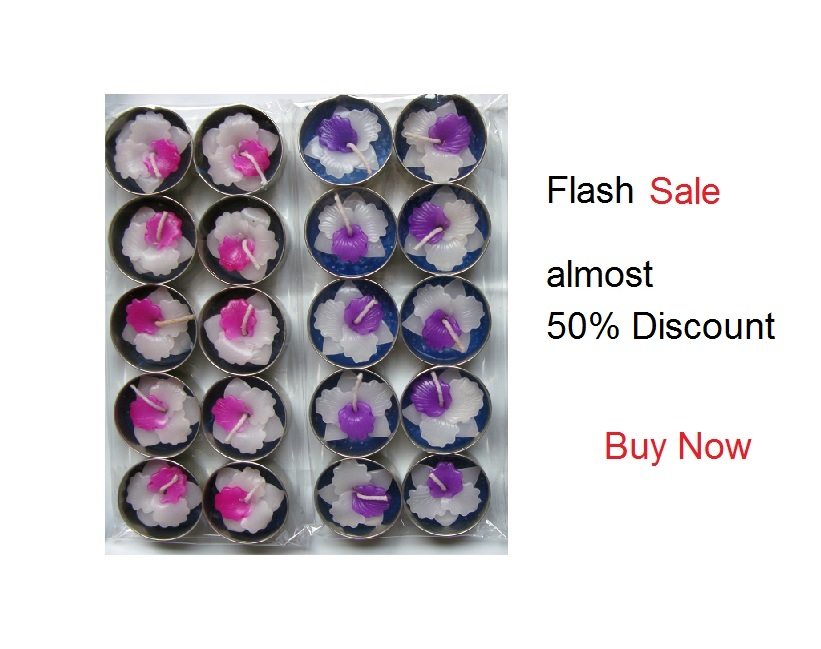 Pink and Violet Orchid T-Lights