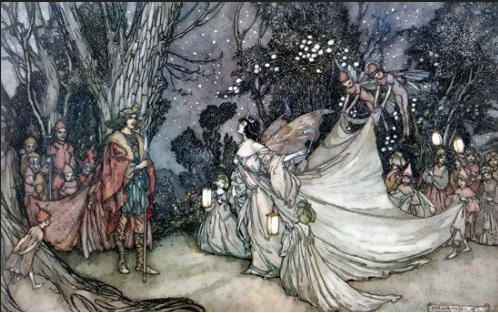 The Meeting of Oberon and Titania, by Arthur Rackham (1905)