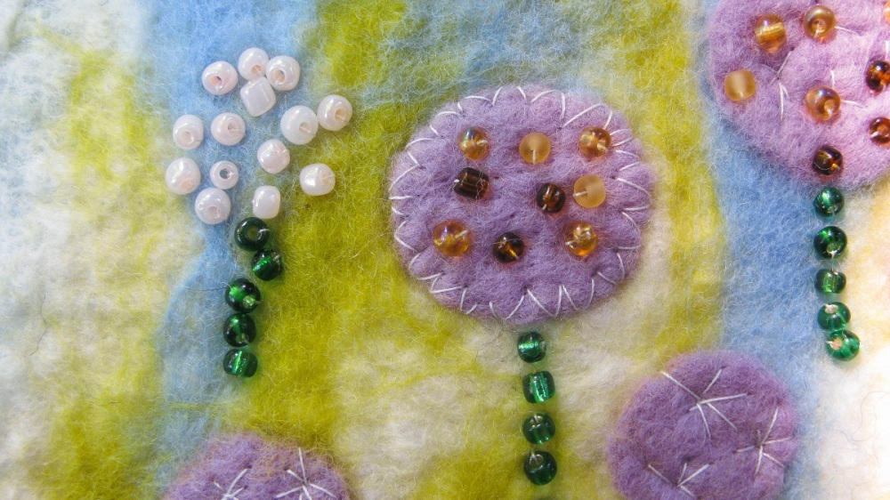 Alliums - Felted Picture - m.joy