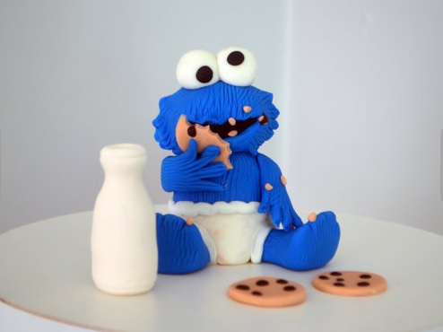 Baby Cookie Monster - theCakeHusband