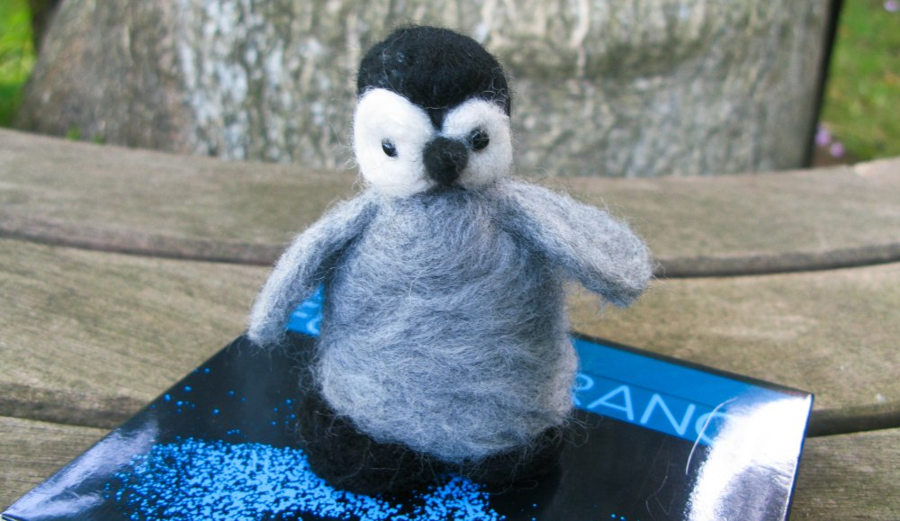 Needle Felting Kits using Icelandic Wool to make small Penguin Chick