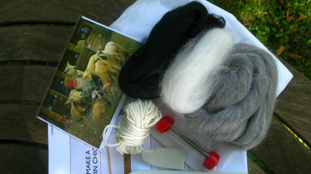 Needle Felting Kit to make a Penguin Chick plus free Advent Calender Greeting Card (worth £4s)