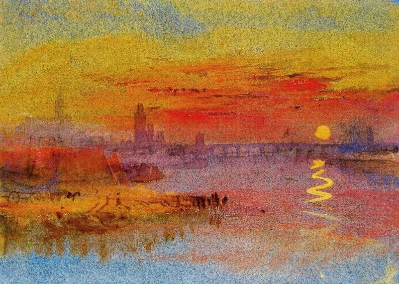 Scarlet Sunset - JMW Turner