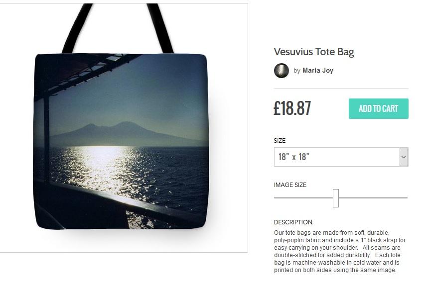 Vesuvius Tote Bag - m.joy
