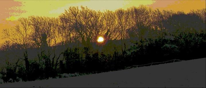 Frosty Morning Sunrise - m.joy