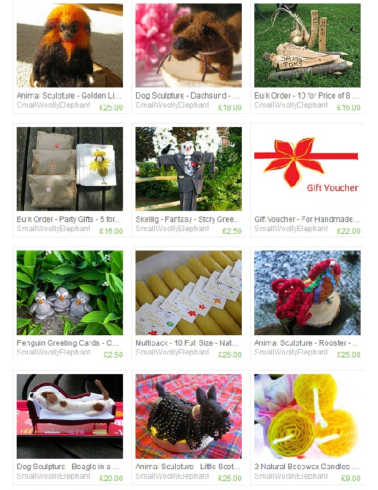 Small Woolly Elephant Store on Etsy