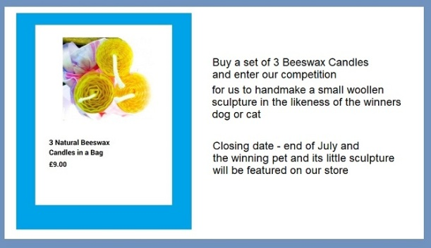 Competition to handmake an original woollen sculpture in the likeness of the winners dog or cat