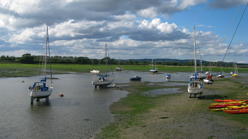 Dell Quay up river and ebb tide - m.joy